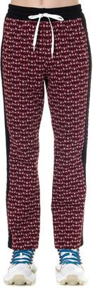 Miu Miu Viscose Jaquard Logo Pants