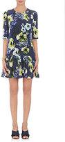 Erdem Women's Emmie Floral Silk Dress-NAVY