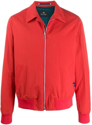 Paul Smith Collar Zipped Bomber Jacket