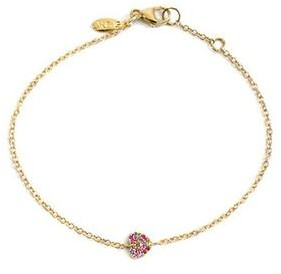 Anzie Love Letter Pave Heart Bracelet Multi