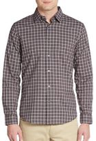 John Varvatos Plaid Check Cotton Sportshirt