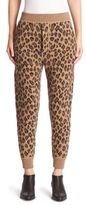 Alexander Wang Leopard-Print Wool & Cashmere Sweatpants