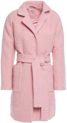 Ganni Belted Wool-blend Boucle Coat