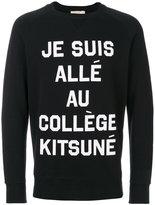 MAISON KITSUNÉ Je Suis Allé sweatshirt - men - Cotton - S