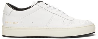 Common Projects Bball Leather Trainers - Mens - White Multi