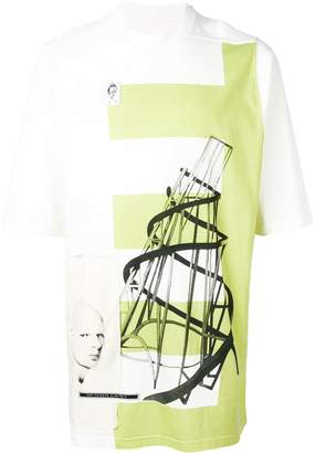 Rick Owens Dark Lime oversized T-shirt