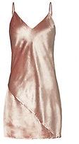 Fleur Du Mal Platinum Rose Velvet Mini Slip Dress