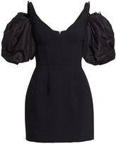 Prabal Gurung Puff-Sleeve Corset Mini Dress