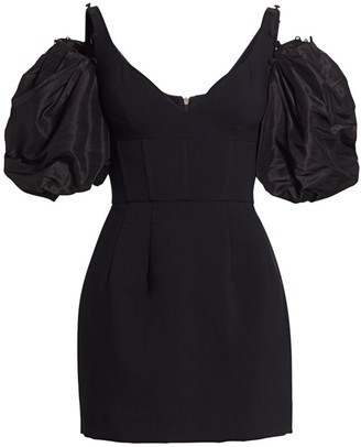 Prabal Gurung Puff-Sleeve Corset Mini Dress