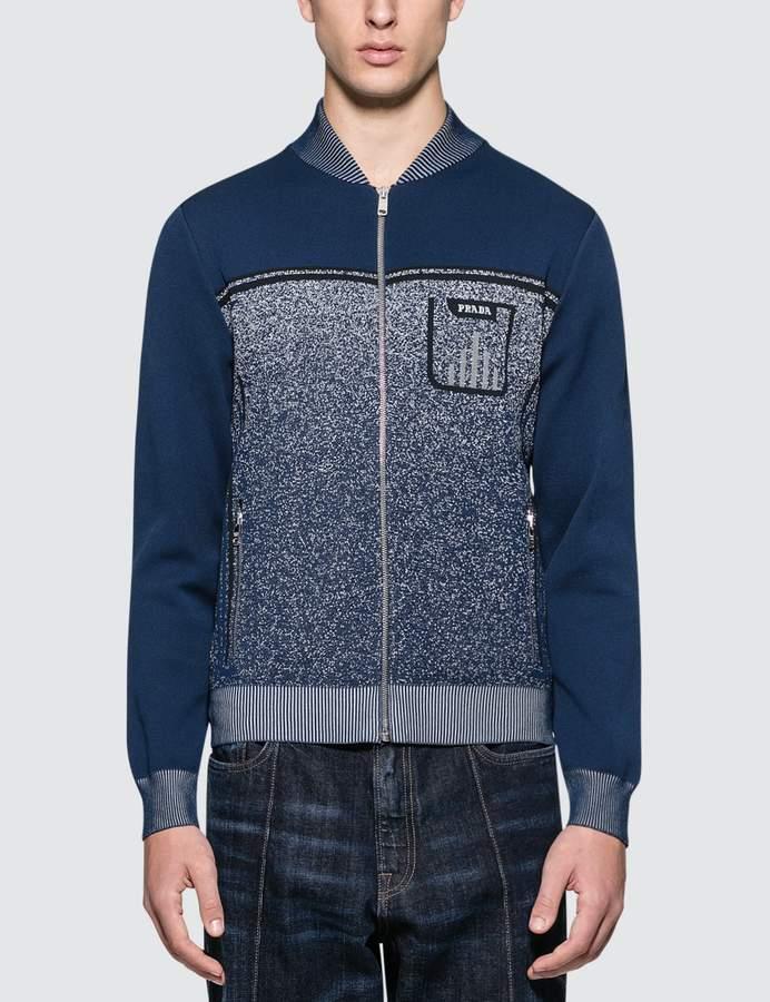 Prada Melange Knitted Jacket