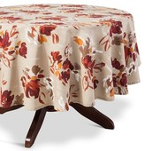 "Threshold Floral Tablecloth Red - (70"" Round"