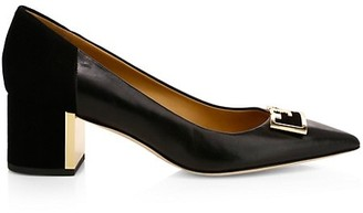Tory Burch Gigi Leather & Suede Pumps