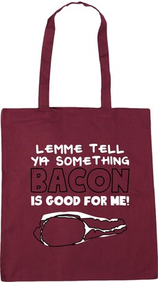 HippoWarehouse Lemme tell you something bacon is good for me Tote Shopping Gym Beach Bag 42cm x38cm 10 litres