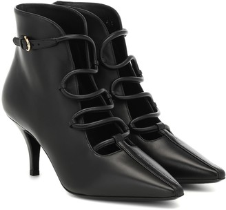 Salvatore Ferragamo Gancini Snake leather ankle boots