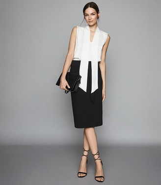 Reiss Delta - D-ring Belted Pencil Skirt in Black