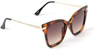 francesca's Sally Square Frame Tort Sunglasses - Tortoise