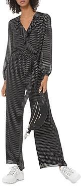MICHAEL Michael Kors Ruffled Polka Dot Georgette Jumpsuit