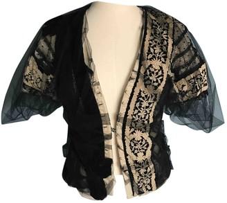 Tata-Naka Black Cotton Jacket for Women