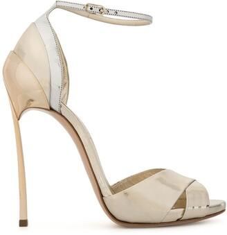Casadei Metallic High Heel Sandals