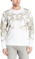 Just Cavalli Men's White and Gold Rope and Compass Crew