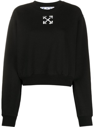 Off-White Spray Arrow cropped sweatshirt