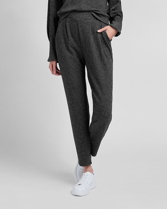 Express High Waisted Cozy Fleece Jogger Pant