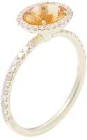 Meira T Women's 14K Yellow Gold, Citrine & 0.29 Total Ct. Diamond Ring