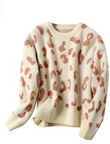 Goodnight Macaroon 'Richie' Leopard Print Sweater (3 Colors)
