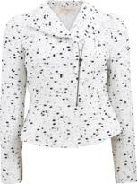 Giambattista Valli Peplum Moto Tweed Jacket
