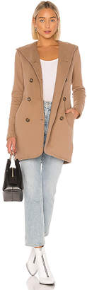 James Perse Double Breasted Hoodie Coat