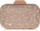 Jimmy Choo CLOUD Rose Gold Crystal Covered Clutch Bag