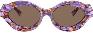 Alain Mikli Contrast Print Sunglasses