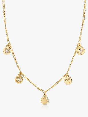 Sif Jakobs Jewellery Multi Charm Chain Necklace