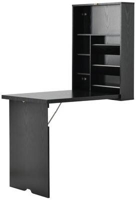 Red Barrel Studio Bezzard Floating Desk Color: Black