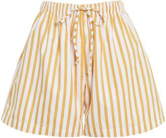 Faithfull The Brand Sereno Martie Striped Cotton Poplin Shorts