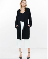 Express black drapey crepe trench coat