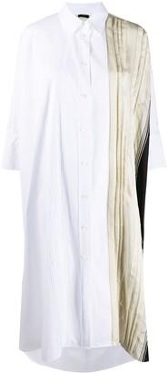 Joseph Pleated Shirt Dress