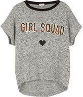 River Island Girls grey 'Girl Squad' print T-shirt