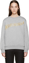 Palm Angels Grey Marihuana Sweatshirt