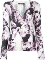 Roberto Cavalli printed v-neck cardigan - women - Silk - 40