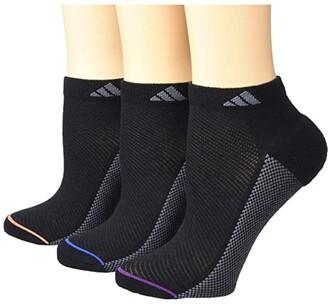 adidas Superlite Stripe II Low Cut Socks 3-Pack (Black/Glory Blue/Solar Blue/Glory Purple/Flash Pin) Women's Crew Cut Socks Shoes