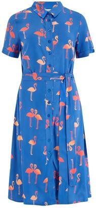 Sugarhill Brighton Abby Bermuda Flamingo Batik Shirt Dress