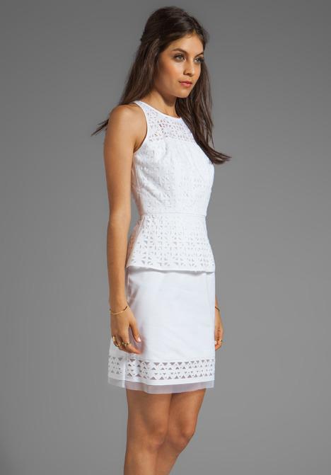 Milly Laser Cut Mia Peplum Dress