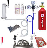 Kegco Ultimate Tower Kegerator Conversion Kit with 5 lb. CO2 Tank - Ball Lock
