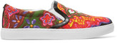 Sam Edelman Pixie Faux Leather-Trimmed Printed Canvas Slip-On Sneakers