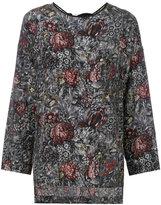 Antonio Marras floral print tunic - women - Silk/Polyester - 40