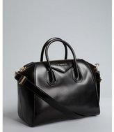 black leather 'Antigona' crossbody satchel