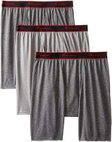 Champion Men's 3 Pack Active Performance Long Leg Boxer Briefs