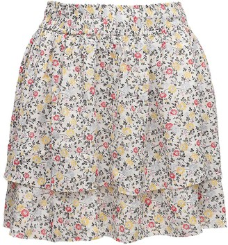 Ganni Printed Georgette Mini Skirt