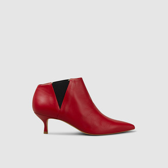 Golden Goose Red Fairy Pointed Leather Boots IT 39